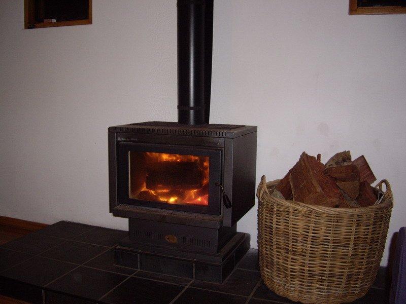 Cosy log fire