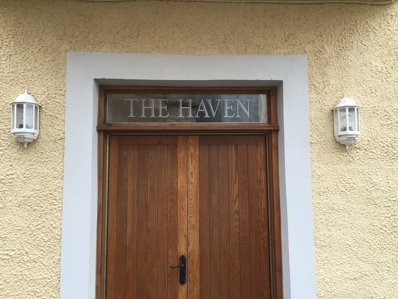 The front door of The Haven