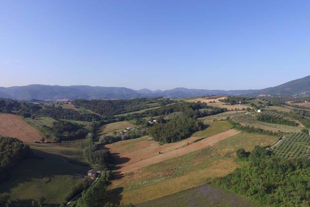 Breathtraking viw acroos la campagne Umbria vers Assise.