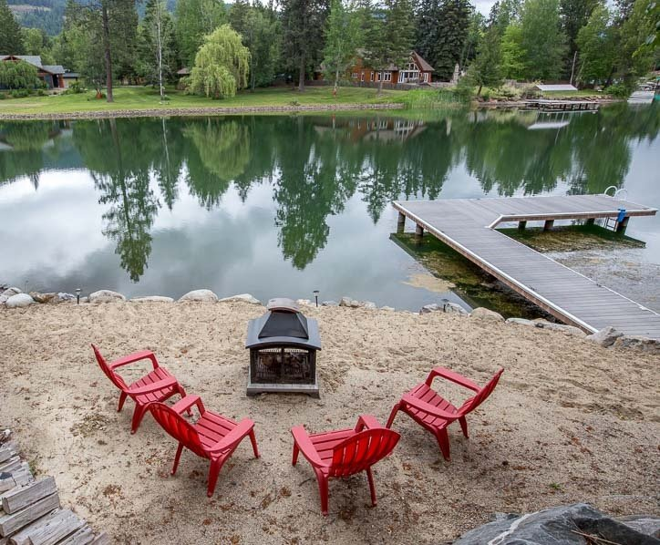 Beach area with great dock