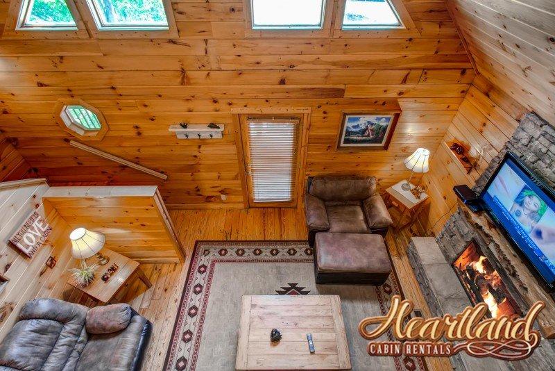 Vista aérea de la sala de estar