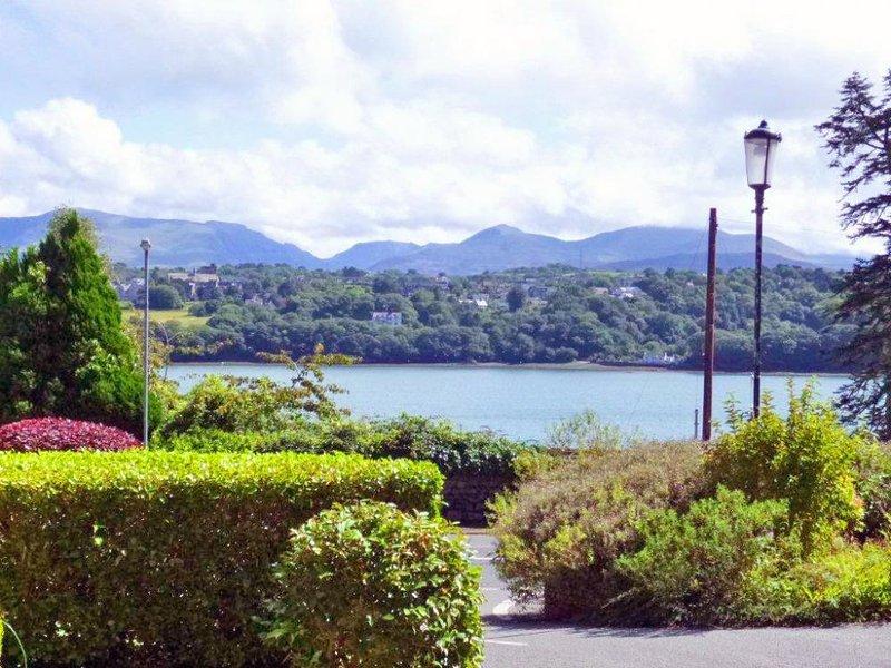 Views across Menai Strait towards Snowdonia