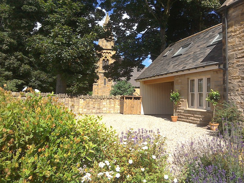 Front of the Cottage set in walled gardens