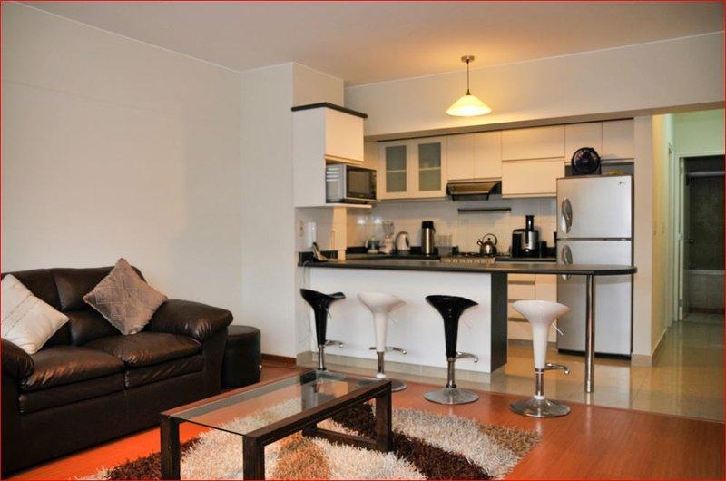 Sala de estar / jantar / cozinha