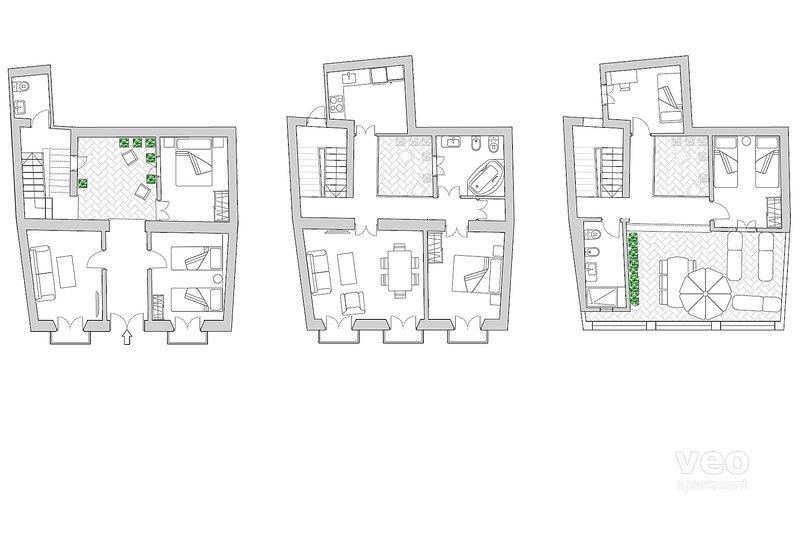 150m² + terrace   5 bedrooms + 3 bathrooms