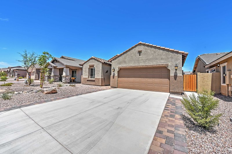 Bring friends and family along to this modern San Tan Valley vacation rental!