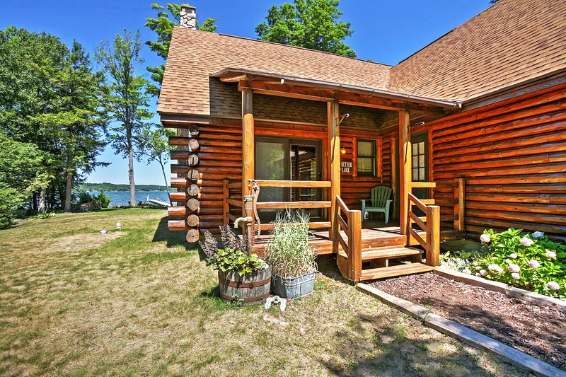 Let this delightfully charming Lake Leelanau vacation rental cabin serve as your ultimate home base for your next lakeside retreat!