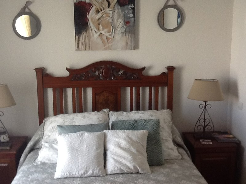 Double bedroom at the front of the house overlooking the marina built in wardrobe for holiday clothe