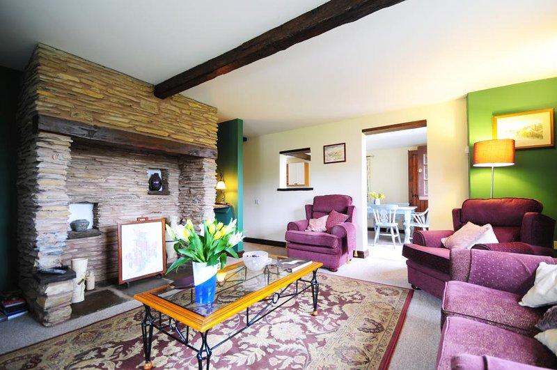 Lounge in holiday cottage in Carmarthenshire
