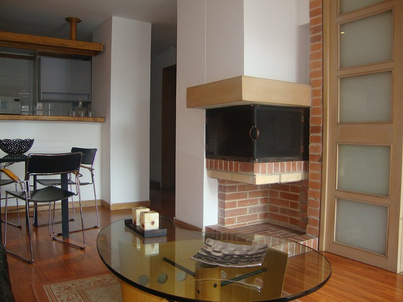 Fireplace in the social area