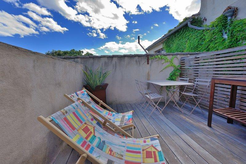 fred's loft calvisson - vue terrasse