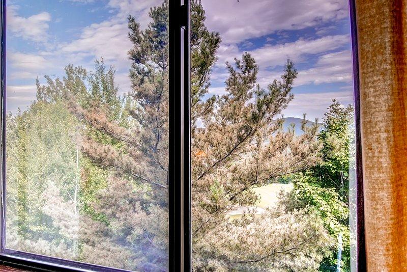 Blick vom Schlafzimmerfenster