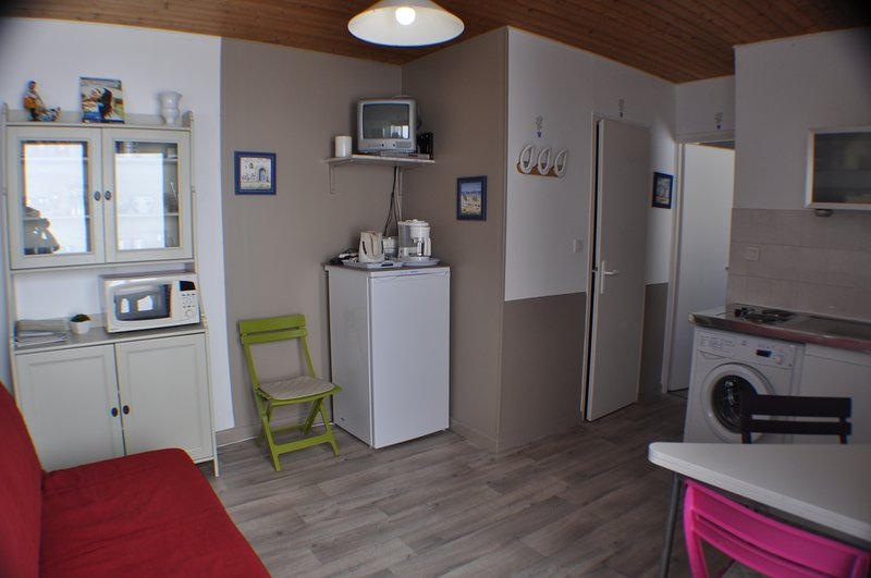 the kitchen room: equipped for 2/4 people (BZ sofa for additional sleeping)