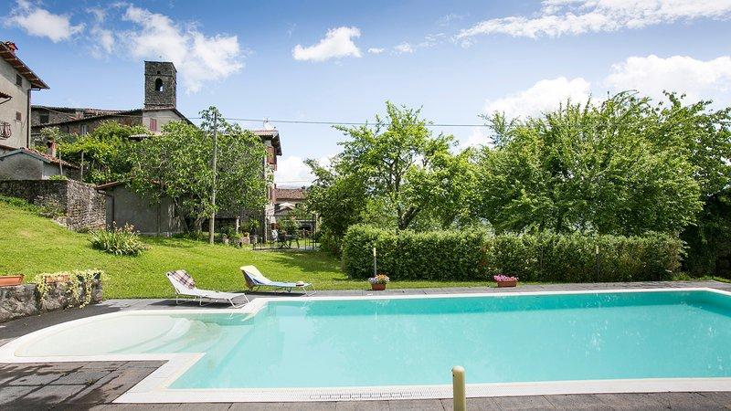 Casa Cristina, large prvt.pool, aluguéis de temporada em Castelnuovo di Garfagnana