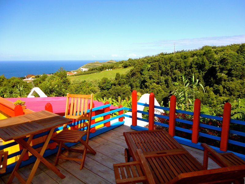 This home is colorful and makes merry. The views of the Atlantic is fantastic.