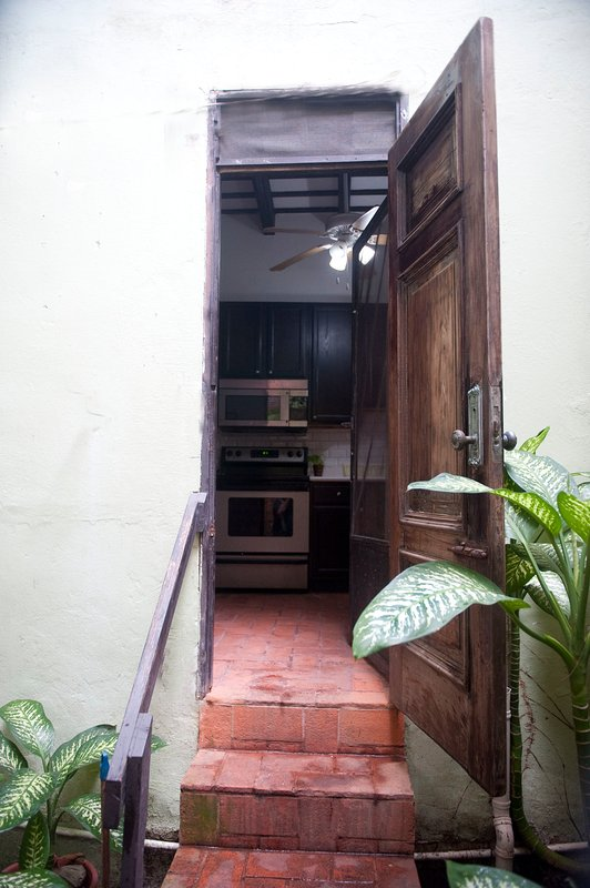 Entrance to kitchen from patio