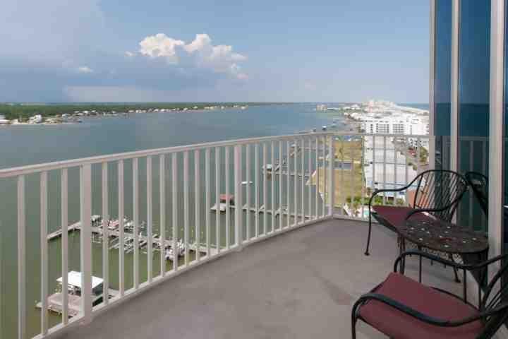 Balcony view over Little Lagoon