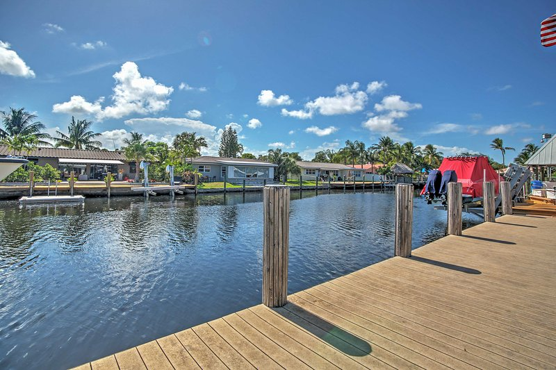You'll have easy access to the water at this Wilton Manors vacation rental home!