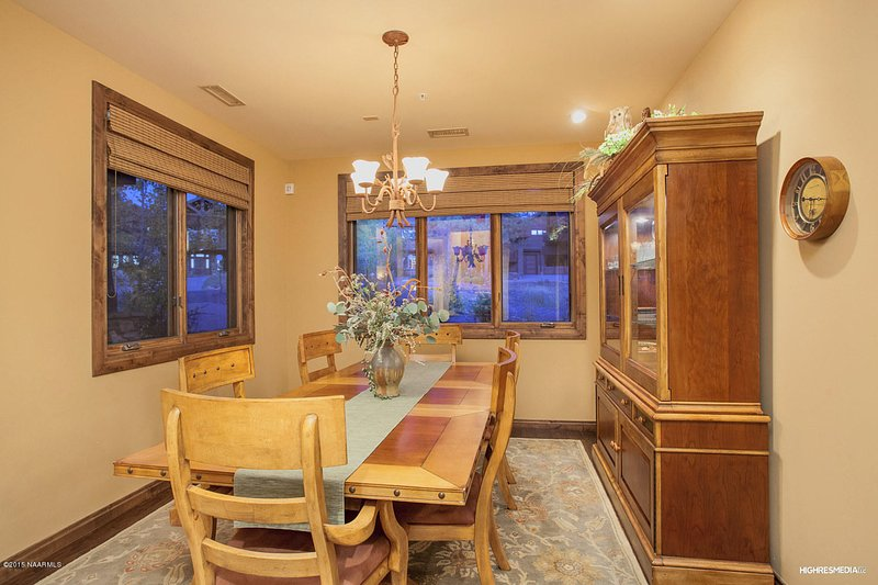 Formal dining room will accommodate 6 guest, kitchen table will seat 6 more.
