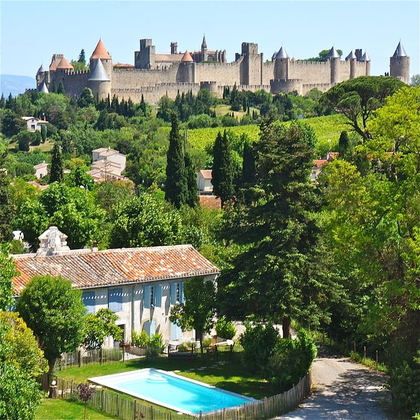 Property for 22 pers. with pool near medieval city, vacation rental in Carcassonne Center