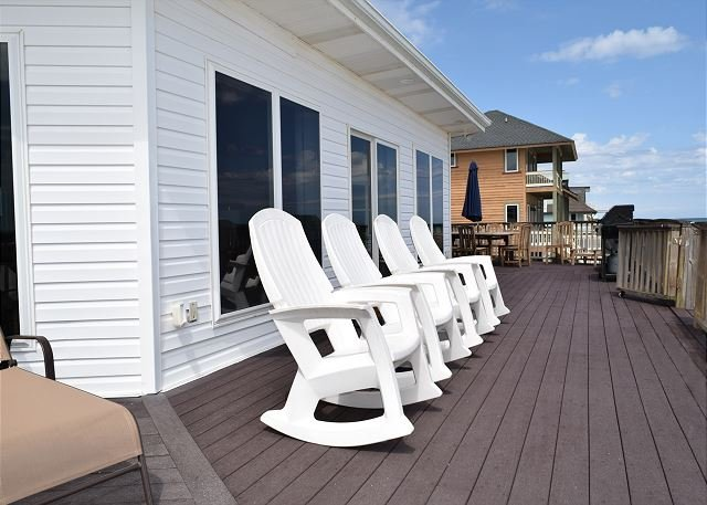 Sit back, relax and listen to the sound of the waves from the deck of the home.
