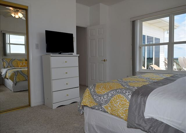 Bedroom 1 also has a TV, gulf views and a private bath.