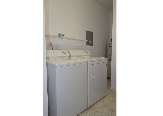 The laundry room has a washer/dryer for your laundry needs.