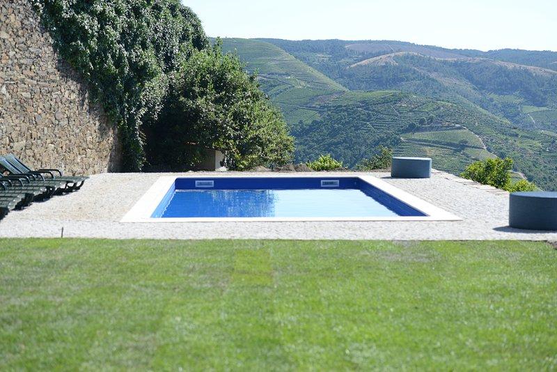 impresionante vista desde la piscina