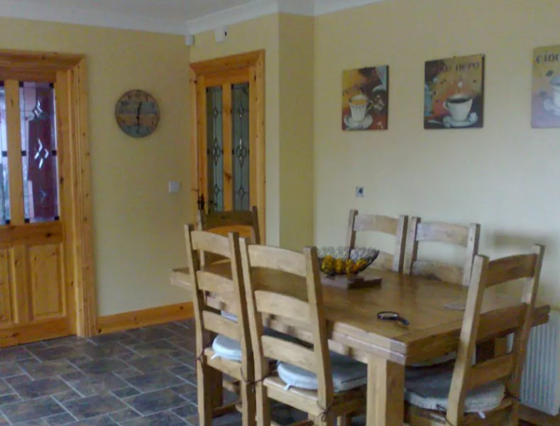 Main Kitchen Area - Extendable Dining table, Fully fitted Kitchen & Utility (not pictured)