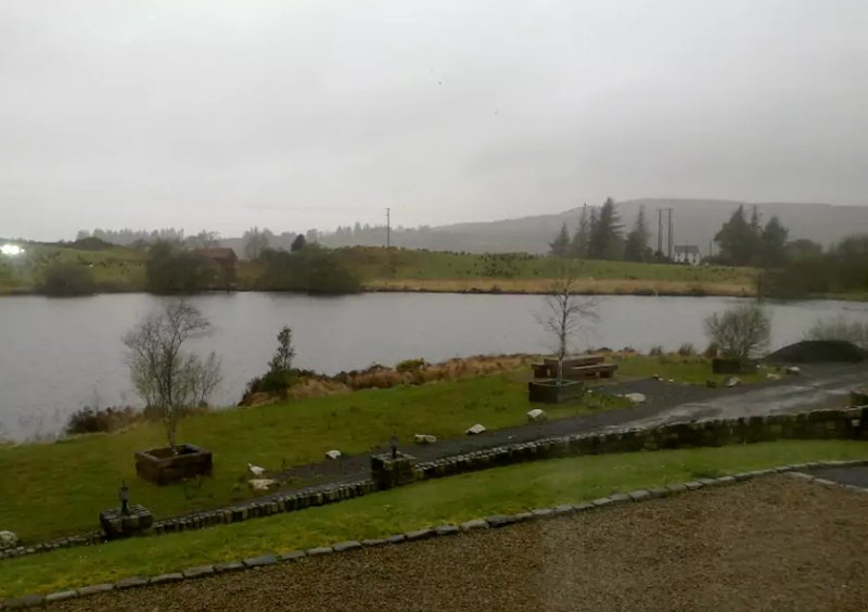 Lakeside view from front living room window (grey day)