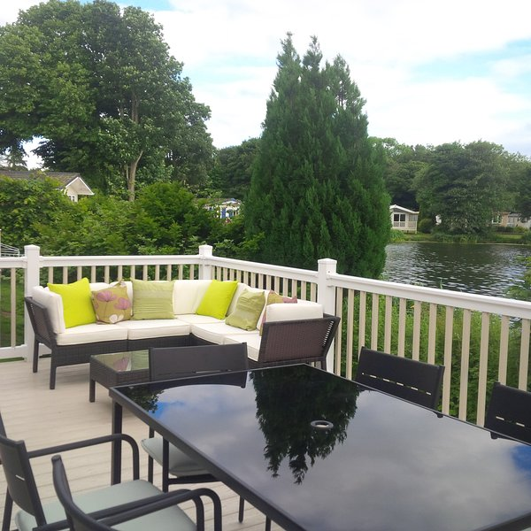Luxury Lakeside Lodge at Haggerston Castle, vacation rental in Lowick
