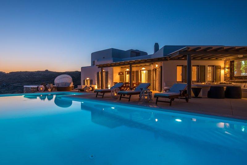 Emerald Margi Villa Kalo Livadi Mykonos, holiday rental in Kalo Livadi