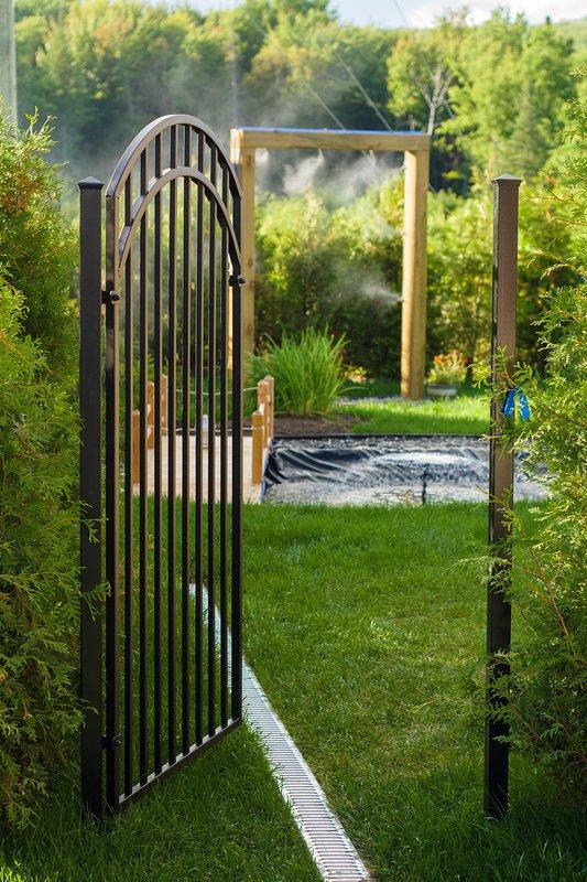 La entrada del jardín Zénitude