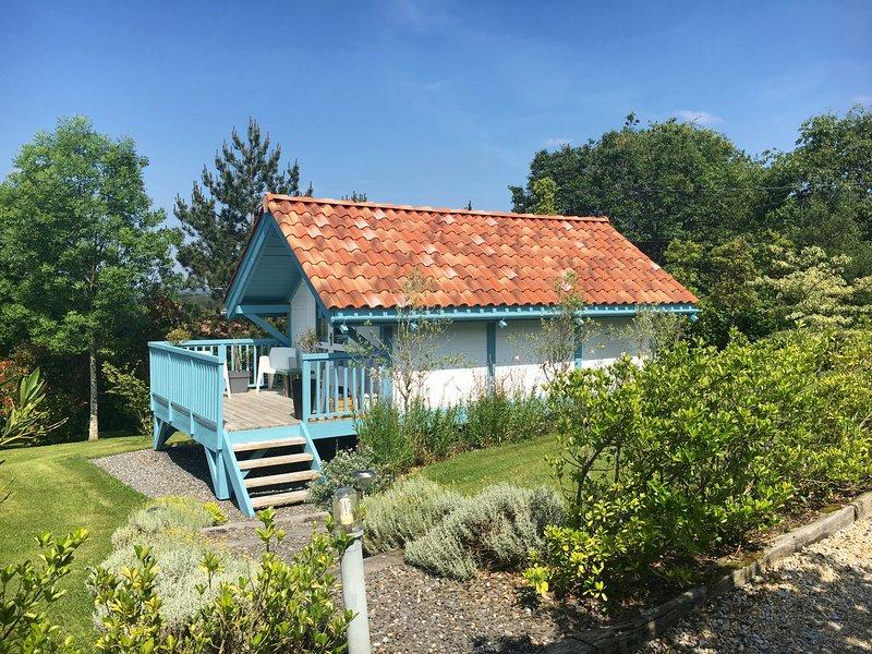 Hut blue shutters, unusual