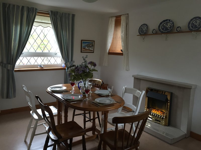 Dining Kitchen with cosy fire
