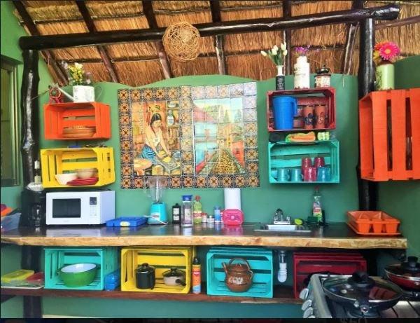 Le encantará esta cocina al aire libre mexicana, sólo 2 pasos de la piscina relajante