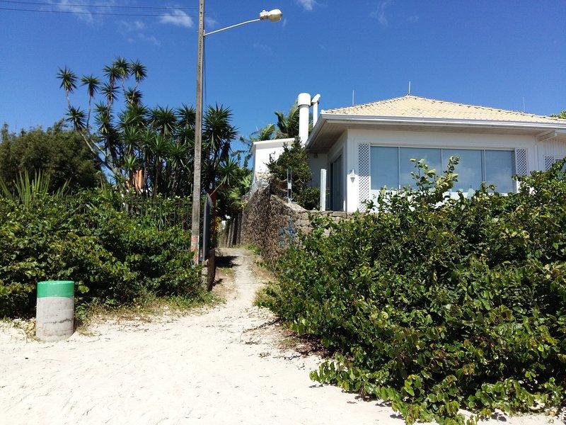 L'ingresso alla spiaggia.