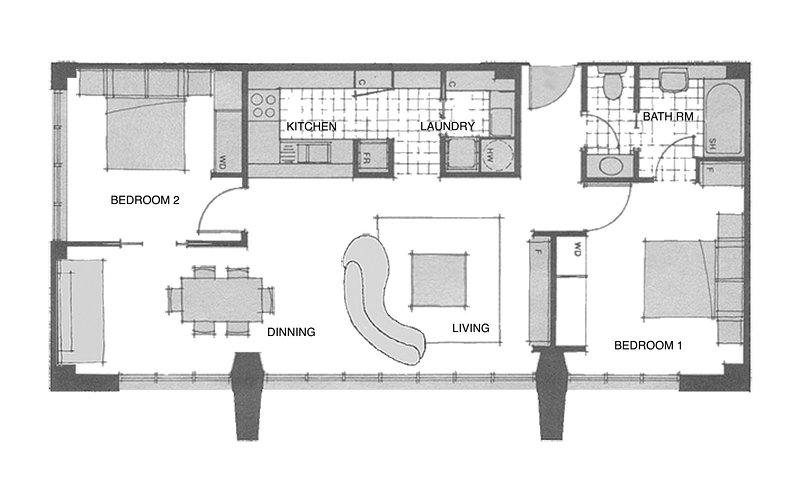 Floorplan - Honey Appartement One