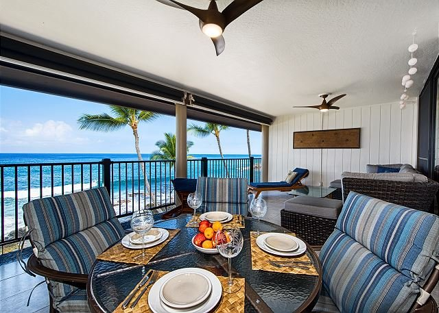 Change things up & enjoy dinner on the lanai!