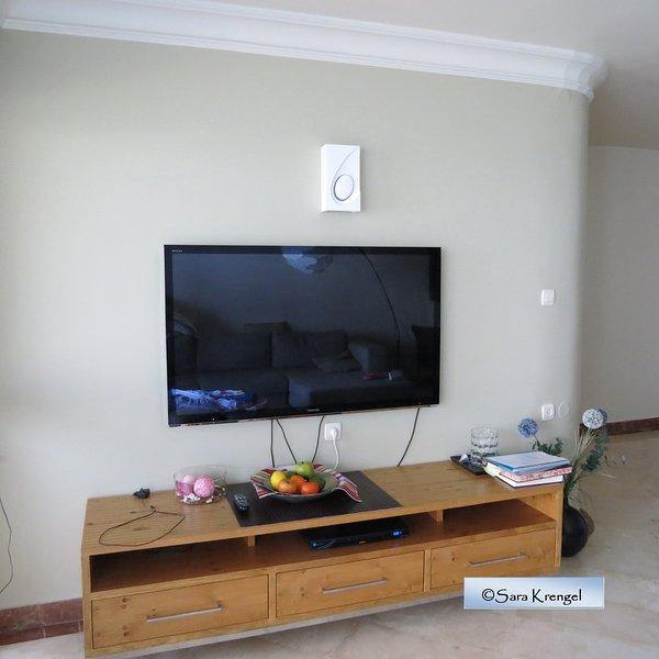 vivendo com 55 '' TV LED