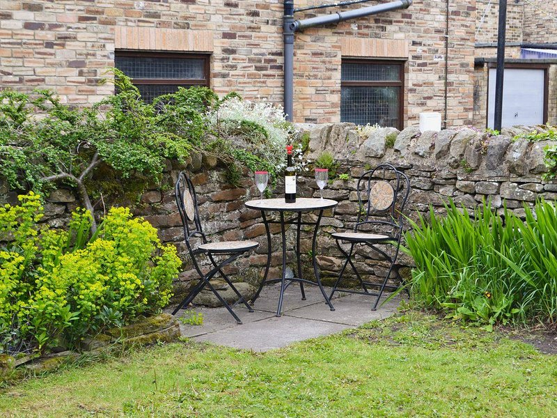3rd view of garden with patio, south facing and very private.