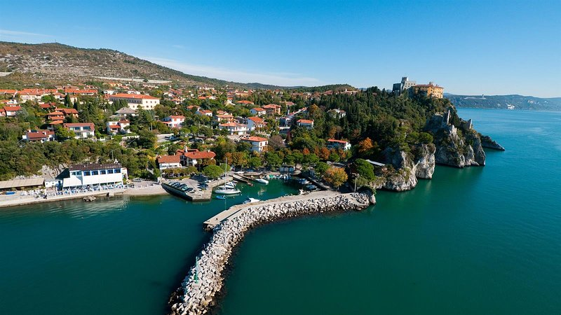 The Port of Duino, just a 2 minute walk away from Villa Daria.