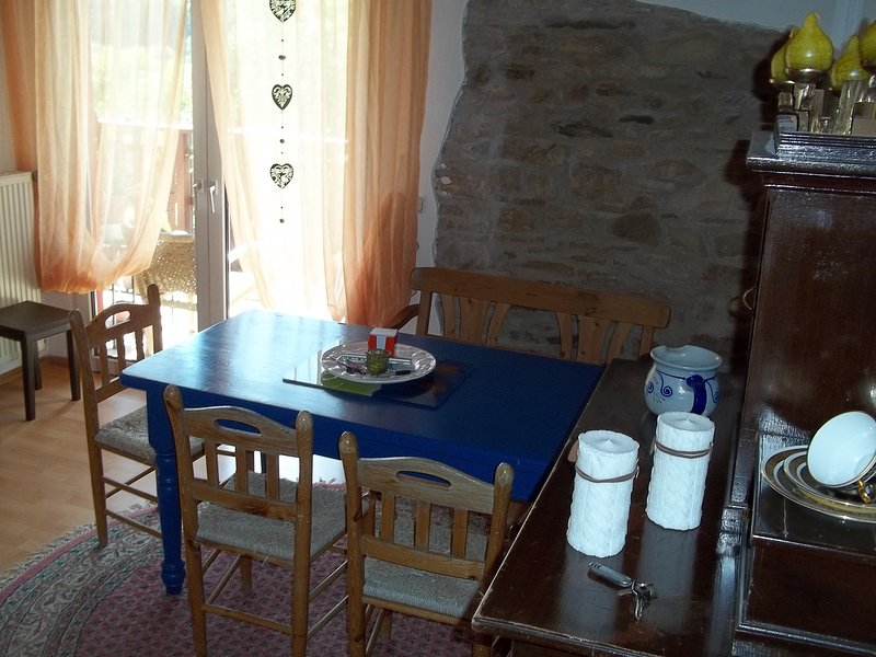 Dining area with access to the balcony