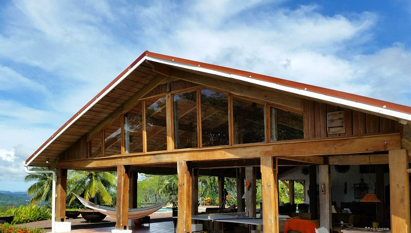 you will love the huge, open air living room with no walls on three sides!