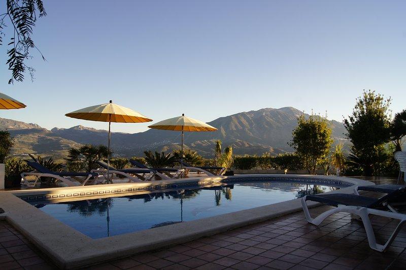 A piscina e as vistas