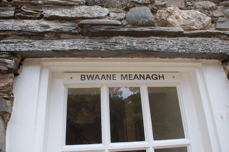 Bwaane Meanagh, the middle cottage.