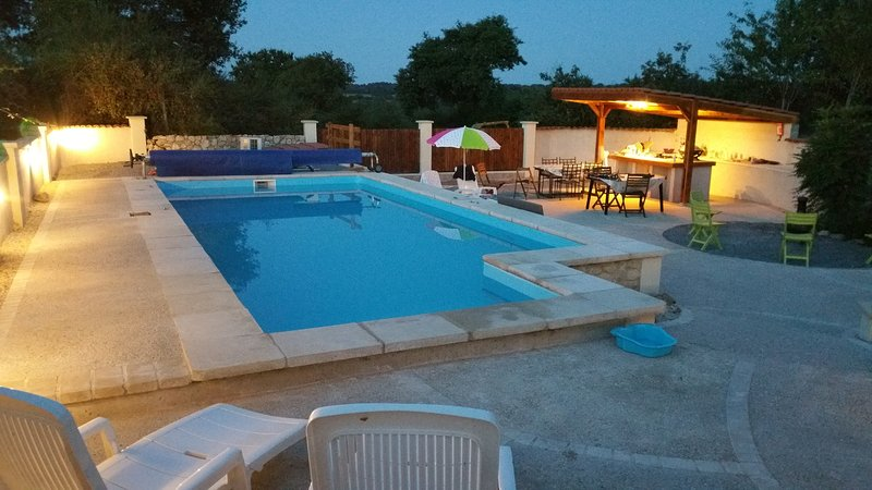 8X4 swimming pool and outdoor kitchen area - the complete solution for day and evening