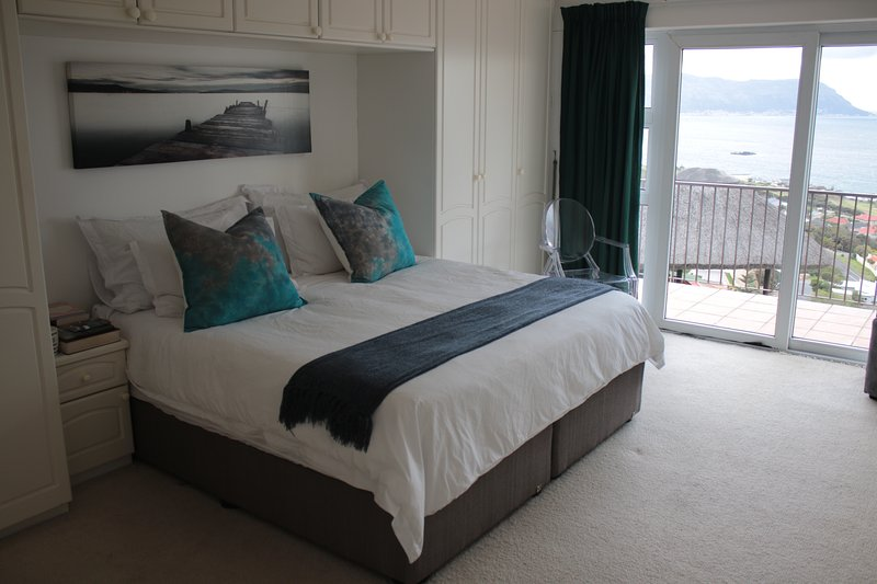 main en suite with small balcony overlooking False Bay