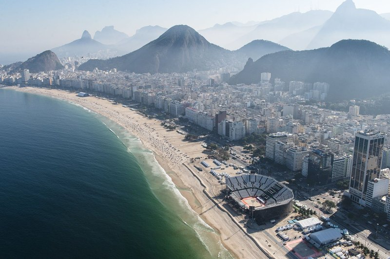 Rio 2016 - Beach Volleyball Arena. Within 1 block from our apartment.