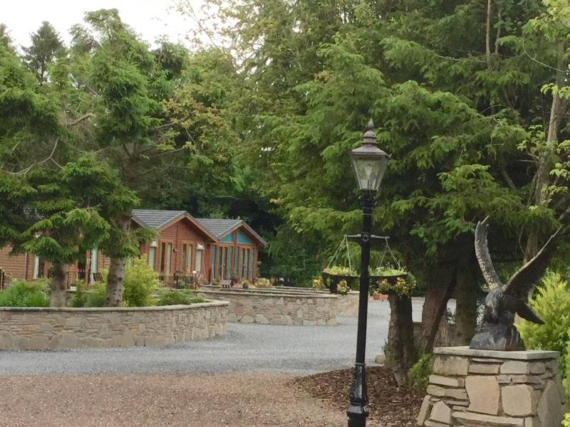 Quiet site with luxury lodges ONLY.